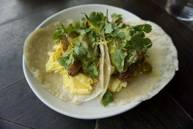 Fried Chicken Breakfast Tacos