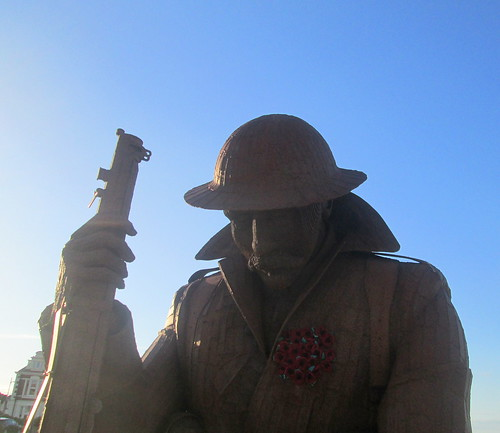Detail of Tommy Statue at Seaham, County Durham