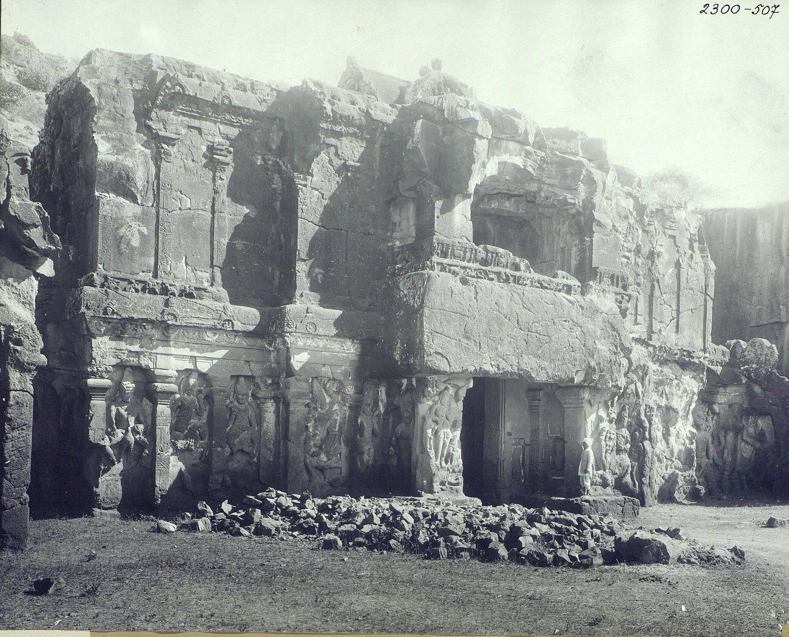 Храм Кайласа в Эллоре (первая пещера) (3)