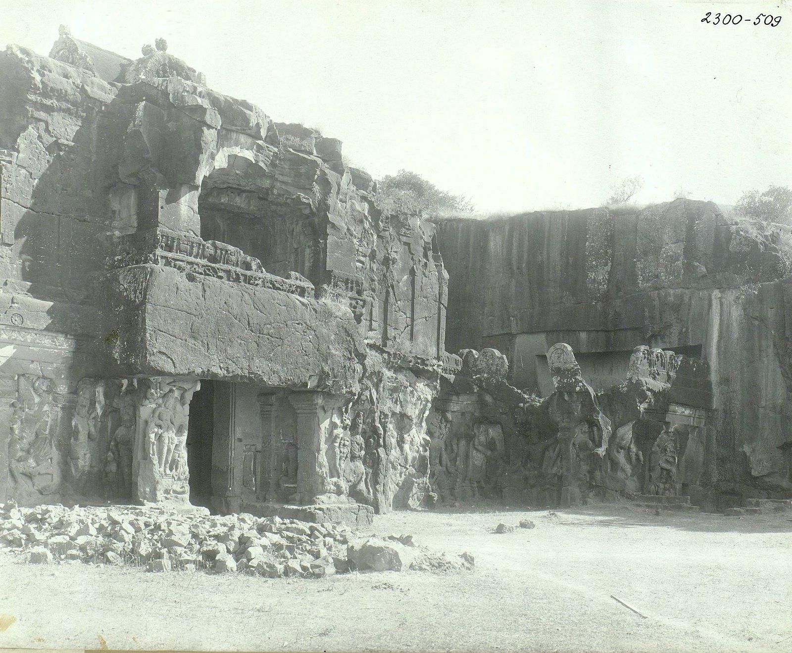 Храм Кайласа в Эллоре (первая пещера) (2)