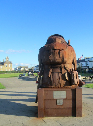 Reverse View, Tommy Statue at Seaham