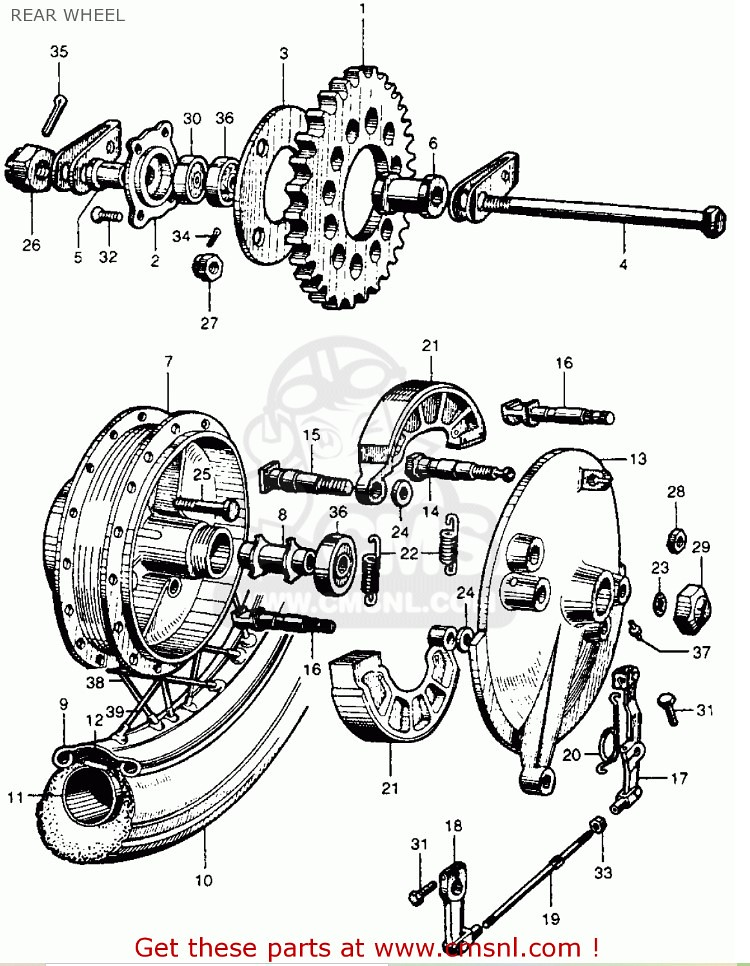 cb77 rear wheel