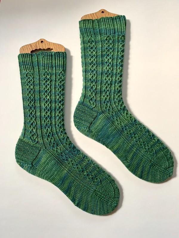 Socks flat on blockers
