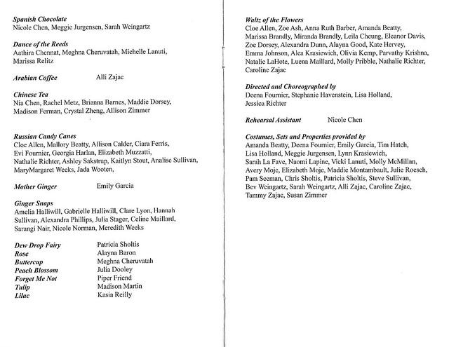 Program - Ann Arbor Dance Classics Nutcracker (2010)