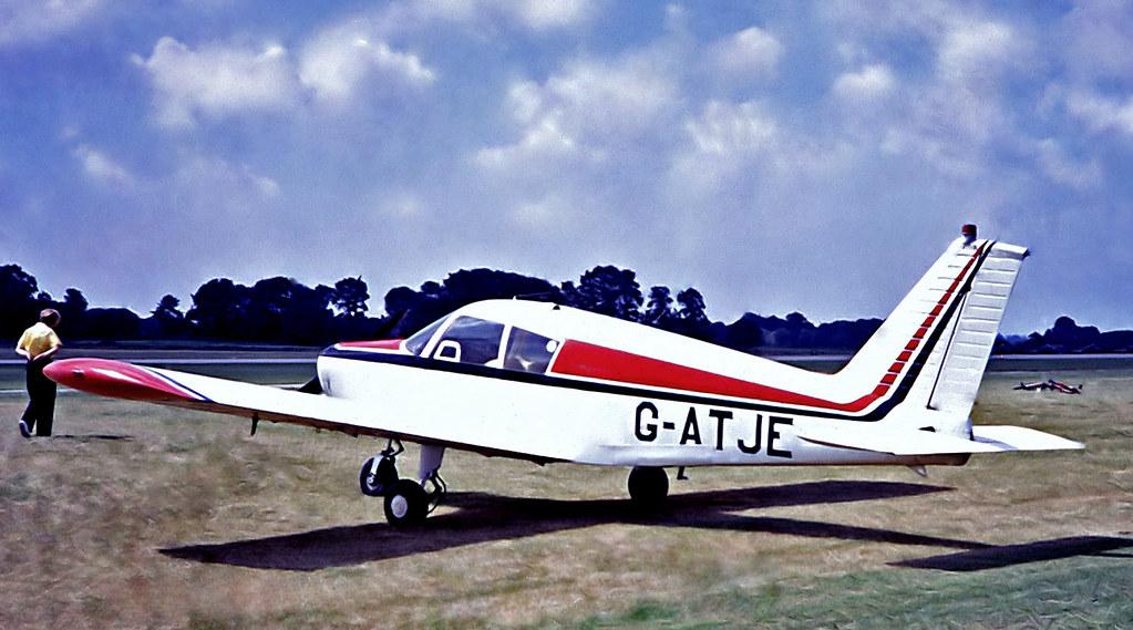 G-ATJE   Piper PA-28-140 Cherokee [28-21243] RNAS Yeovilton~G 17/07/1971