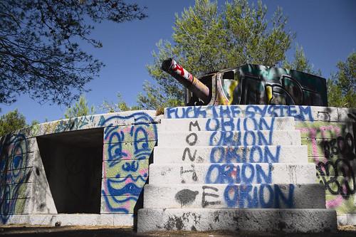 Communist cannon #urbex #almada #streetart #portugal