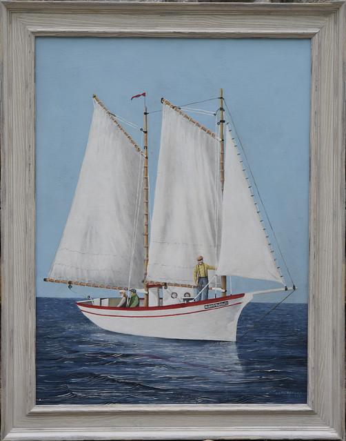 framed Helen MacLeod II painting