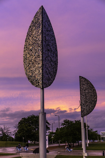 Purple sky at Sculpture Park