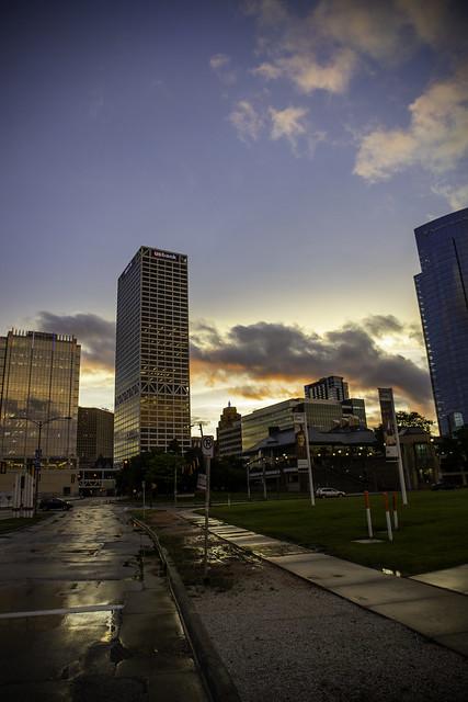 Skyline after rain