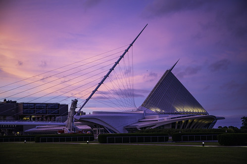 Purple Sky Milwaukee Art Museum