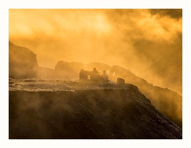 Sunrise in Dinorwig Quarry