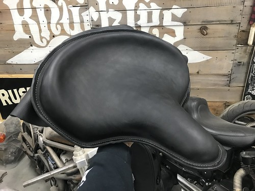Black Leather Solo Seat Custom Leather Work