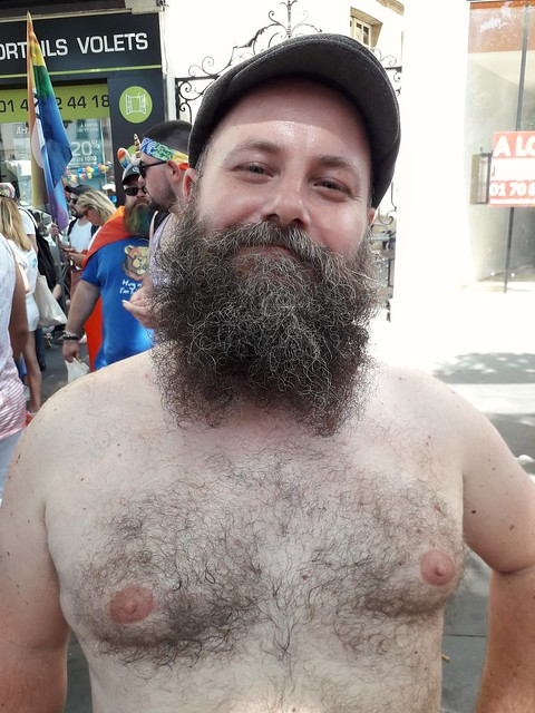 HELLA SEXY HAIRY BEARMAN ! HAPPY PRIDE !  PHOTOS of PAST PRIDE PARADES ! (PARIS 2019) ( safe photo ) (50+ FAVES)