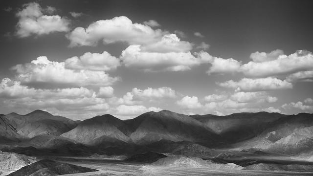 Light Clouds over the Badlands, Death Valley