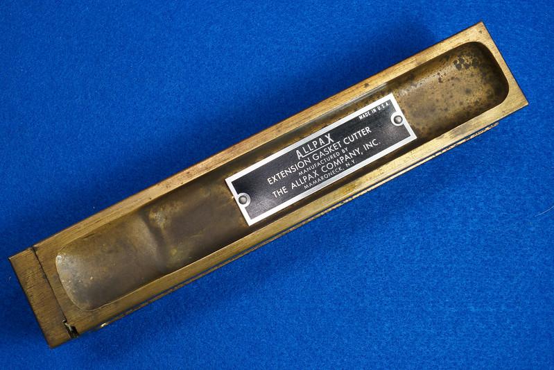 RD29137 Vintage Allpax Adjustable Extension Gasket Cutter Tool in Original Metal Case DSC08466