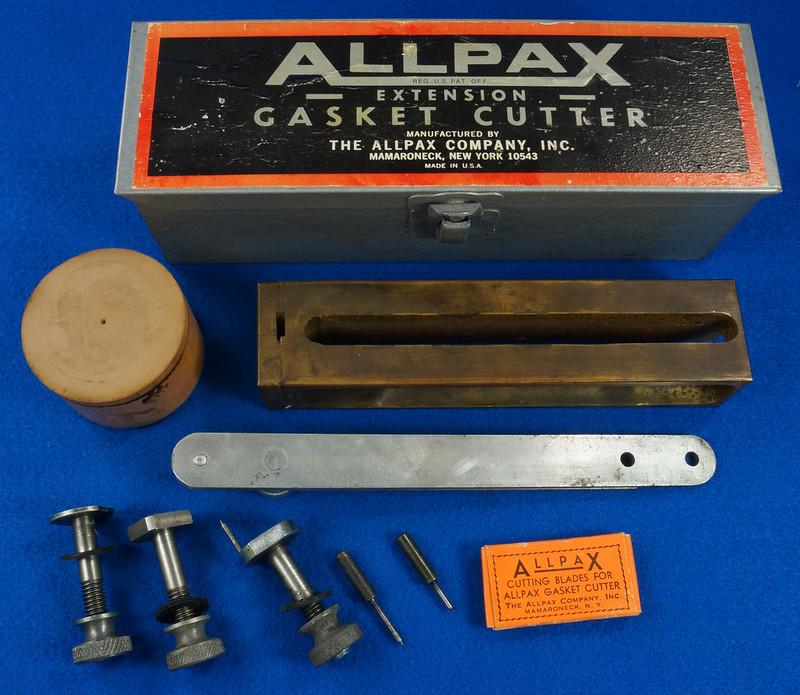 RD29137 Vintage Allpax Adjustable Extension Gasket Cutter Tool in Original Metal Case DSC08459