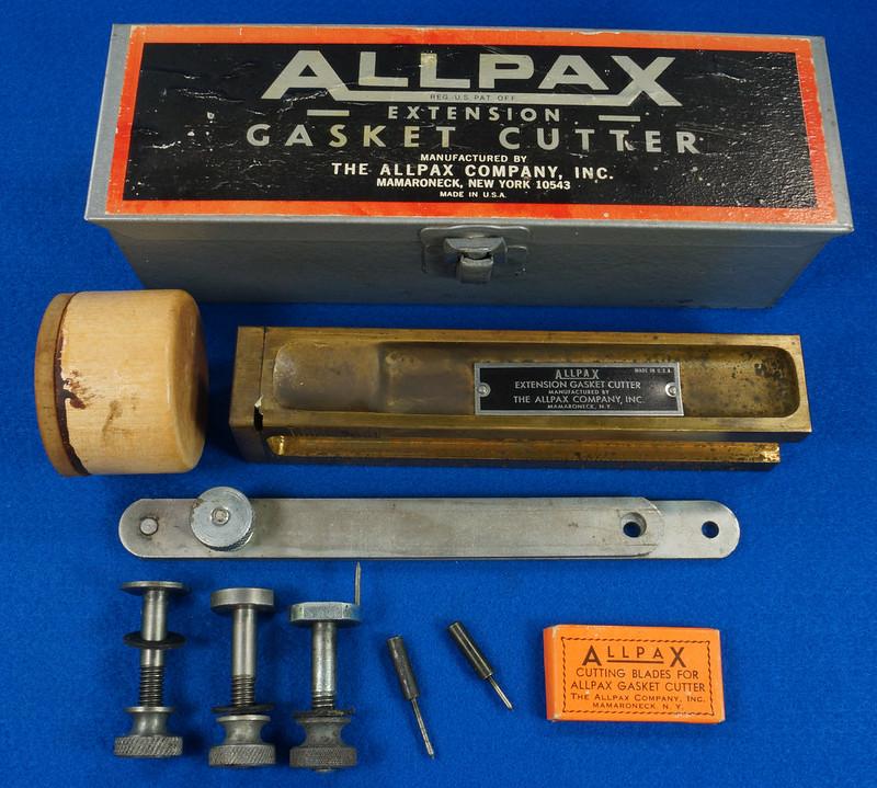 RD29137 Vintage Allpax Adjustable Extension Gasket Cutter Tool in Original Metal Case DSC08457