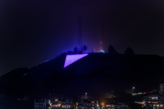 iconic pink triangle for pride