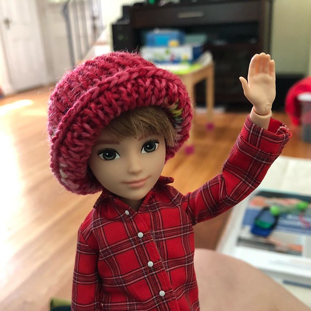 She has a hat!
