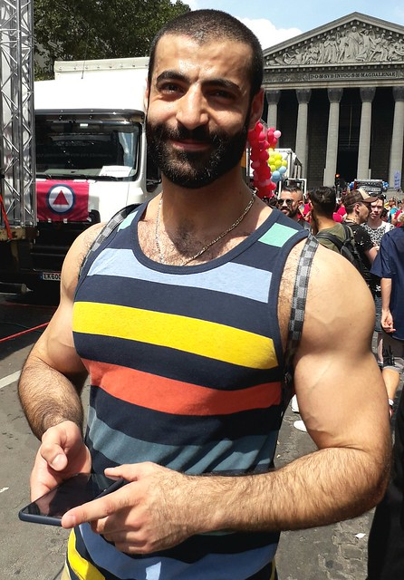 MANLY MASCULINE MUSCLE MAN ! ~ HAPPY PRIDE 2020 ! PHOTOS of PAST PRIDE PARADES ! (PARIS 2019) (safe photo) (50+ FAVES)