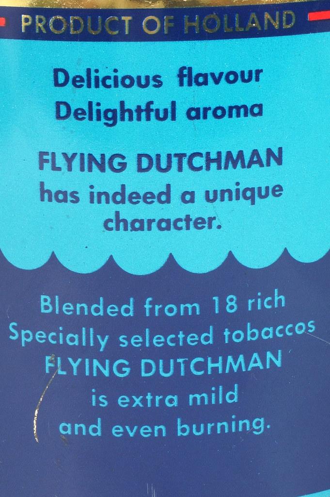 RD16115 Vintage FLYING DUTCHMAN Tobacco Tin - Made in Holland - 7 oz. DSC08526