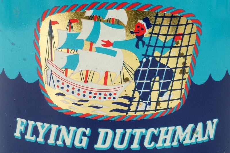 RD16115 Vintage FLYING DUTCHMAN Tobacco Tin - Made in Holland - 7 oz. DSC08524
