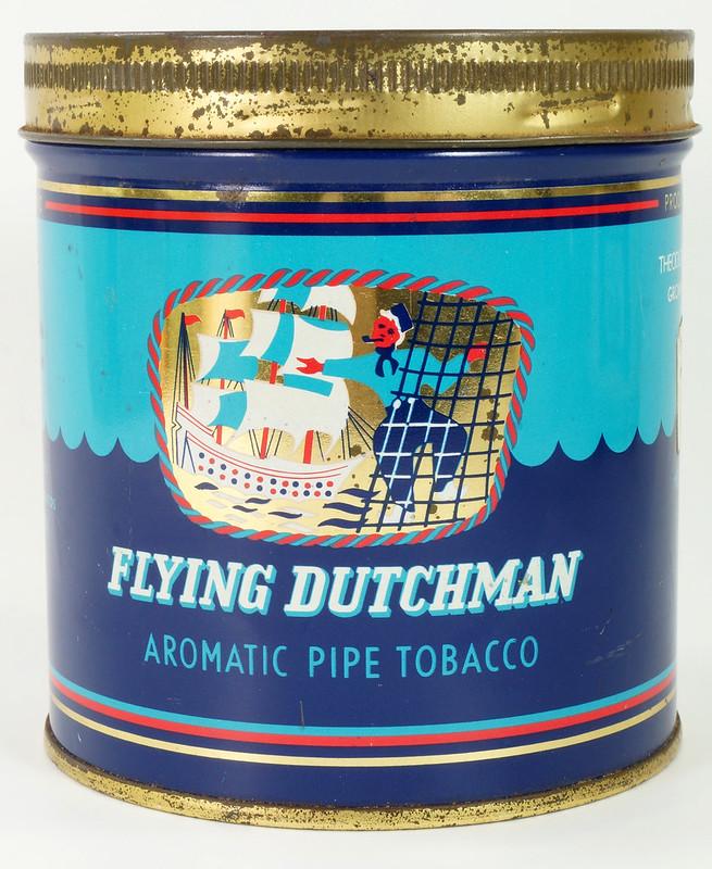 RD16115 Vintage FLYING DUTCHMAN Tobacco Tin - Made in Holland - 7 oz. DSC08517