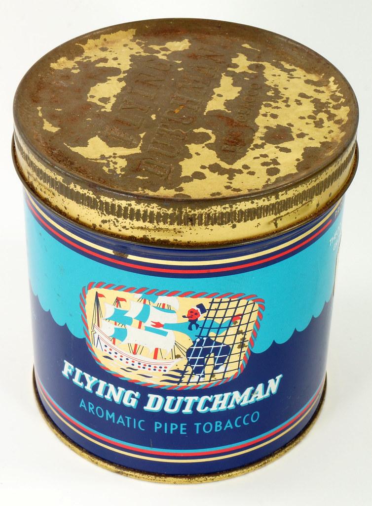 RD16115 Vintage FLYING DUTCHMAN Tobacco Tin - Made in Holland - 7 oz. DSC08516