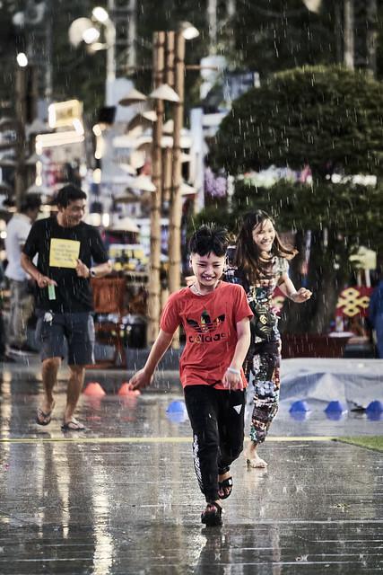 Track of rain