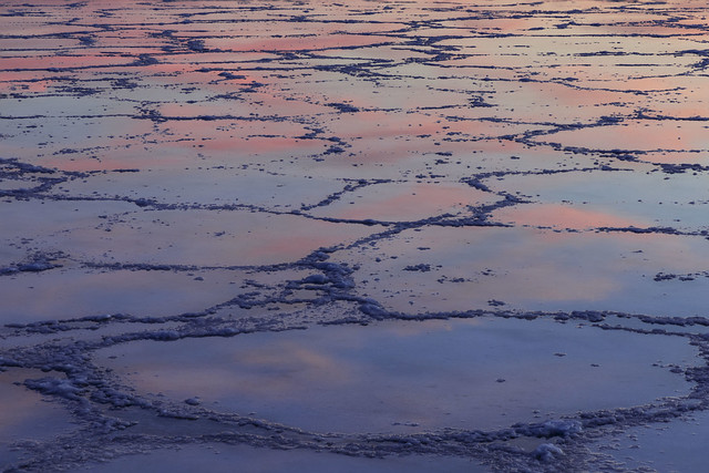 Reflections of Sunset, Badwater Basin