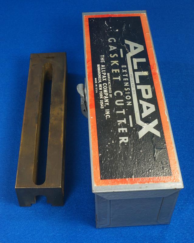 RD29137 Vintage Allpax Adjustable Extension Gasket Cutter Tool in Original Metal Case DSC08460