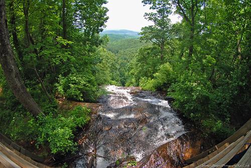 amicalola falls waterfalls georgia nature landscape 8mm fisheye photos
