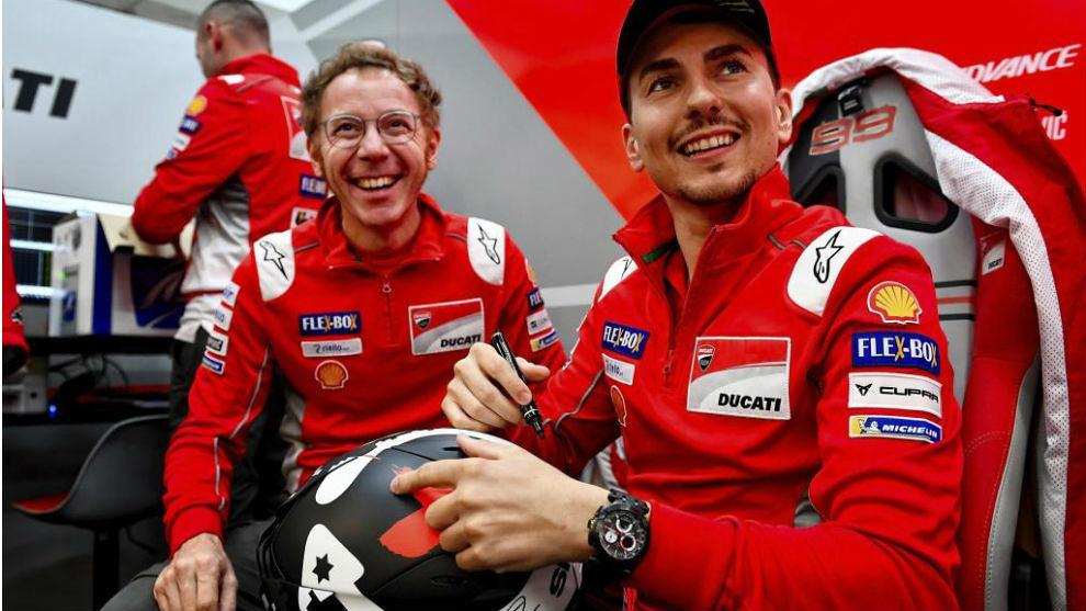 Jorge Lorenzo with Ducati