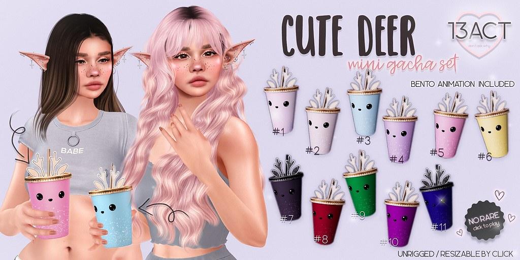 !13ACT – cute deer paper cups  –  mini gacha