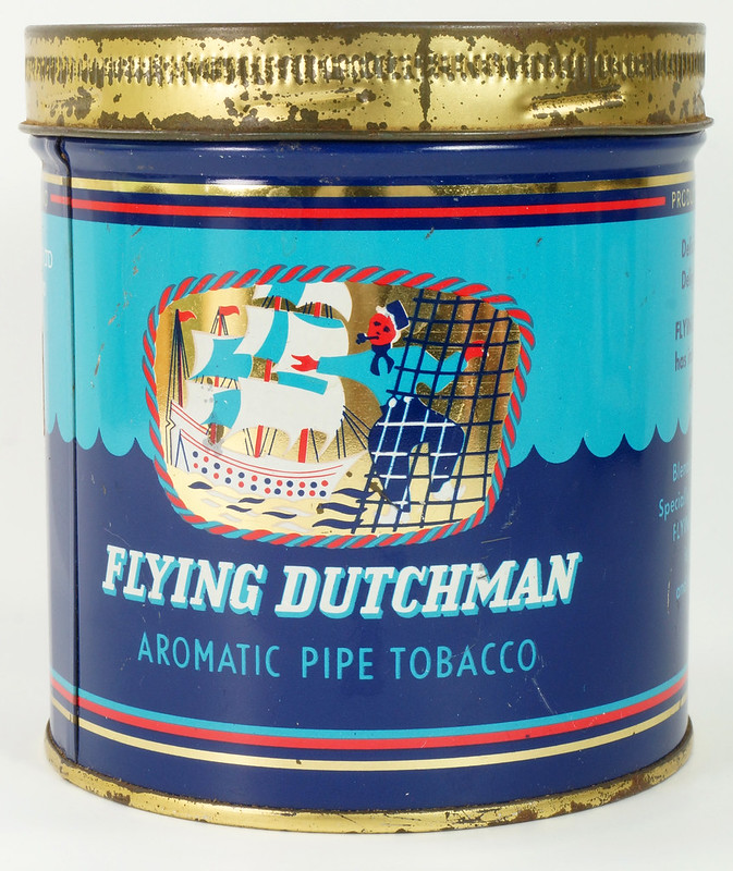 RD16115 Vintage FLYING DUTCHMAN Tobacco Tin - Made in Holland - 7 oz. DSC08519