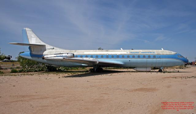 N1001U KDMA 18-04-2007 Aero Service Sud Aviation SE 210 Caravelle VIR CN 86