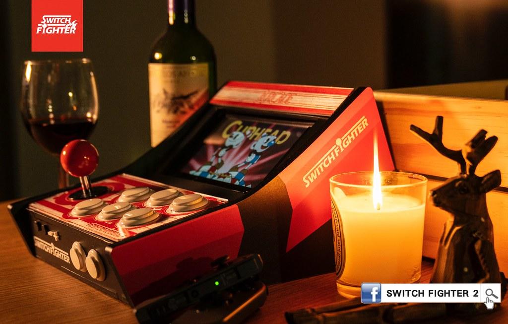 重回街機時代的懷舊感動! 可將 NS 一秒變成桌上型街機的「Switch Fighter」現正於 Indiegogo 募資中!