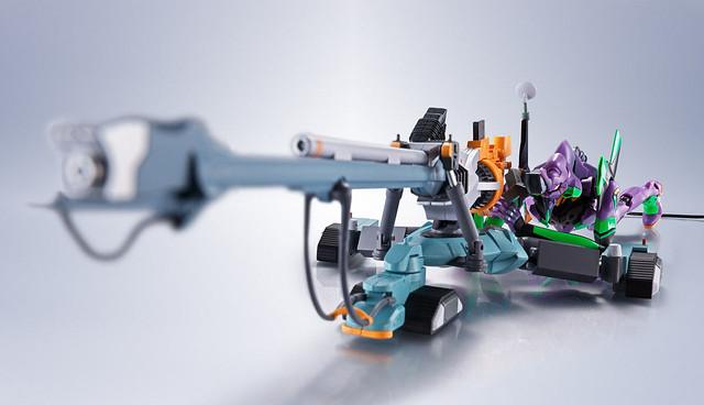 陽電子砲、ESV護盾登場!ROBOT魂《福音戰士新劇場版》EVANGELION 初號機 / 零號機 用屋島作戰再現配件組