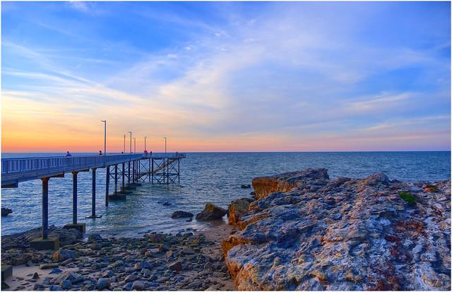Nightcliff Jetty sunset, Darwin Harbour, NT, Australia