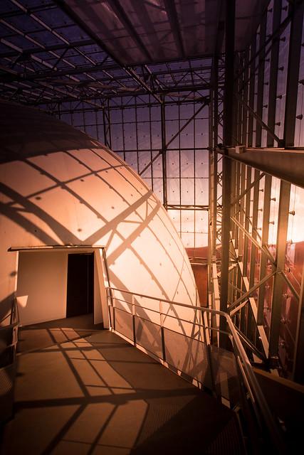 First sunset on Mars - Futuroscope, Poitiers, France