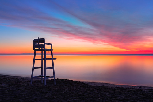 davidhoefler longexposure sky beach water clouds sunrise colorful canonef2470mmf28lusm lifeguardchair canoneos5dmarkiv morning nature outside outdoors nopeople shore