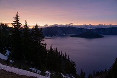 Crater Lake into the Evening
