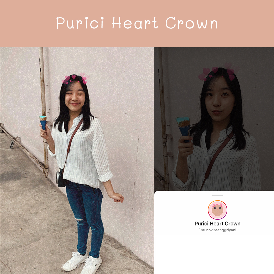IG filter Purici Heart Crown