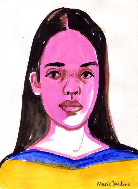 Maria Zaikina, Rosy-cheeked girl, 2020