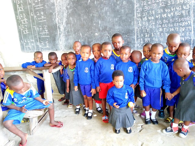 New school uniform from England at Tumani