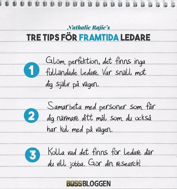 Tre Tips Nathalie Rajic