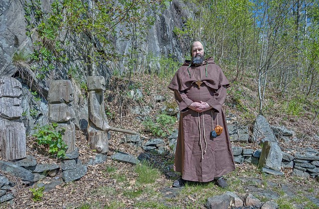 my priest in front of the old Norse gods