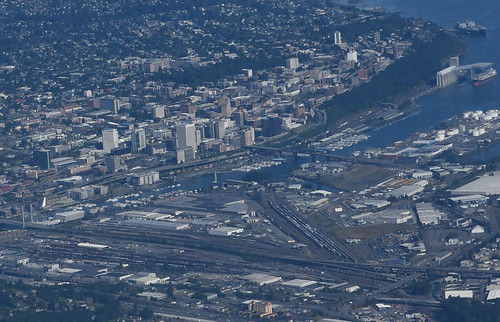 Aerial View of Downtown Tacoma, WA