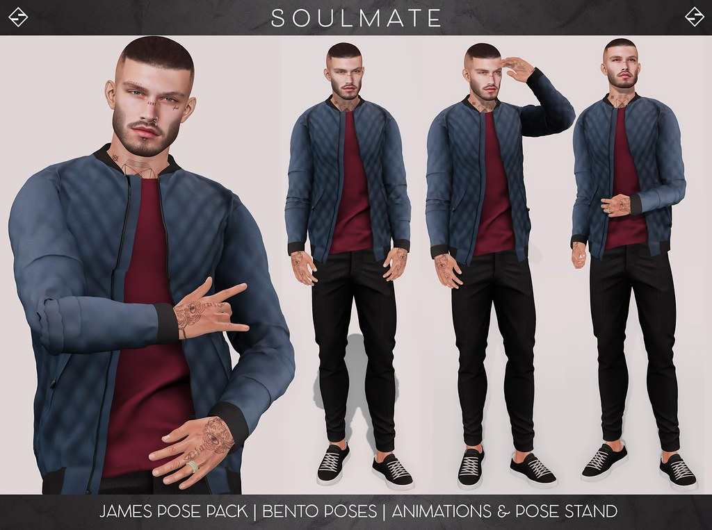 JAMES POSE PACK – BENTO POSES, ANIMATIONS & POSE STAND