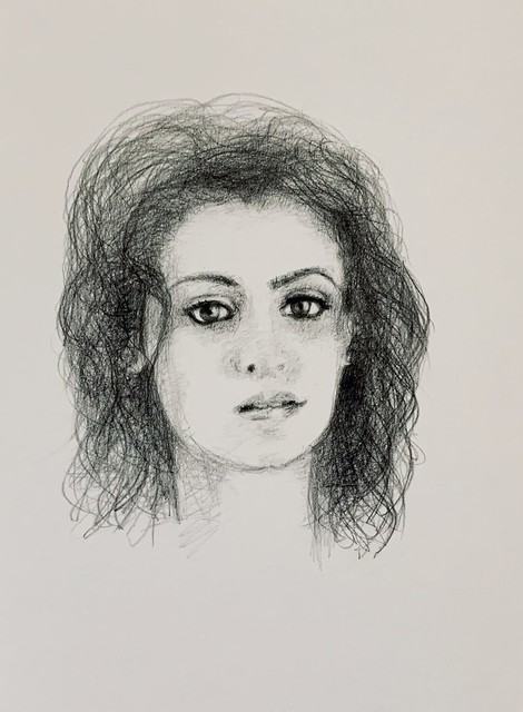 Graphite and Polychromos pencil Portrait of Katie Melua, Singer,Songwriter, by jmsw. After listening to her music , today.